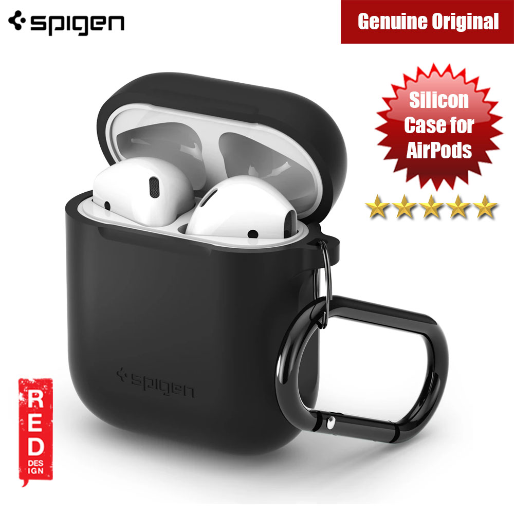 Picture of Spigen Silicon Case for Airpods (Black) Apple Airpods 2- Apple Airpods 2 Cases, Apple Airpods 2 Covers, iPad Cases and a wide selection of Apple Airpods 2 Accessories in Malaysia, Sabah, Sarawak and Singapore
