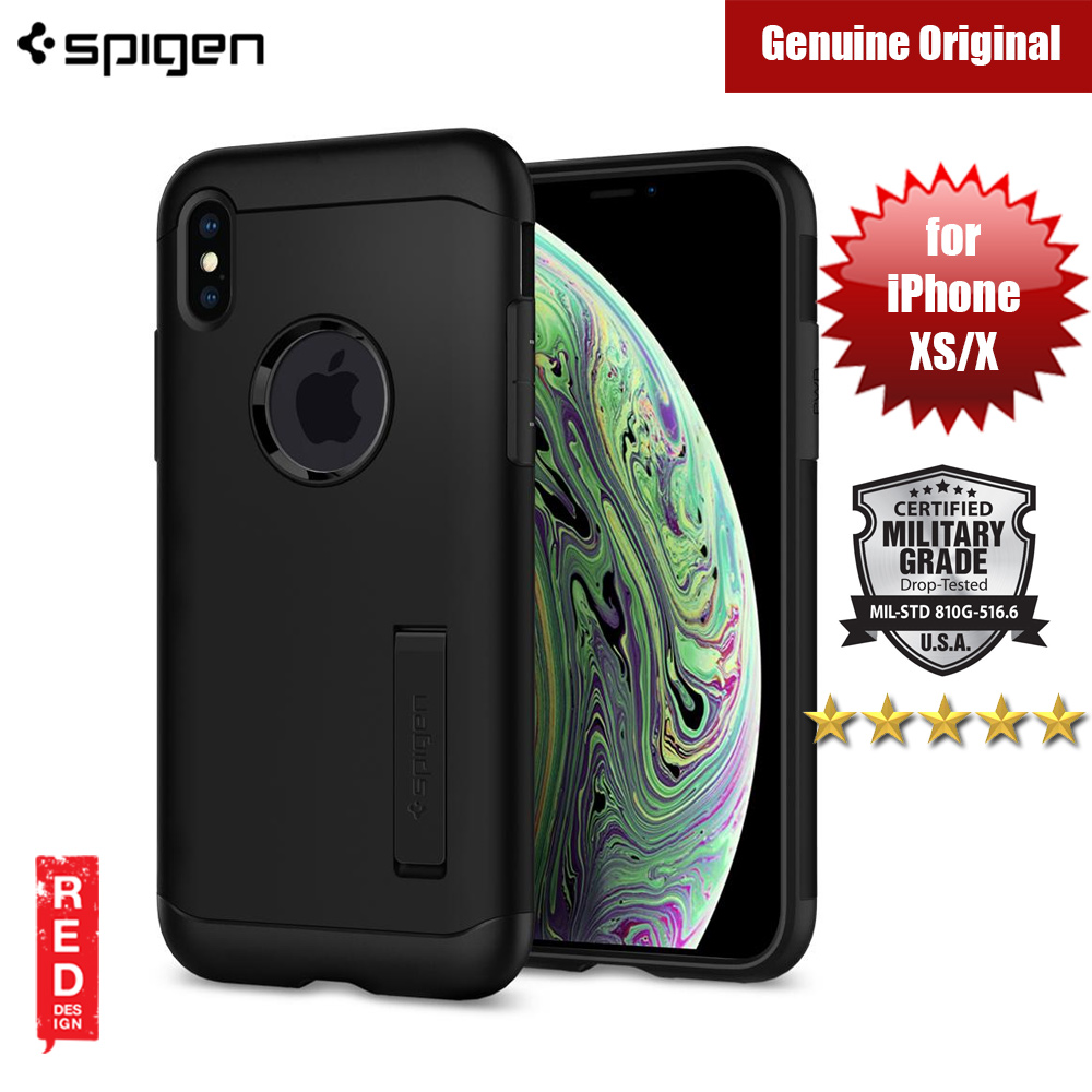 Picture of Spigen Slim Armor Protection Case for Apple iPhone XS (Black) Apple iPhone XS- Apple iPhone XS Cases, Apple iPhone XS Covers, iPad Cases and a wide selection of Apple iPhone XS Accessories in Malaysia, Sabah, Sarawak and Singapore