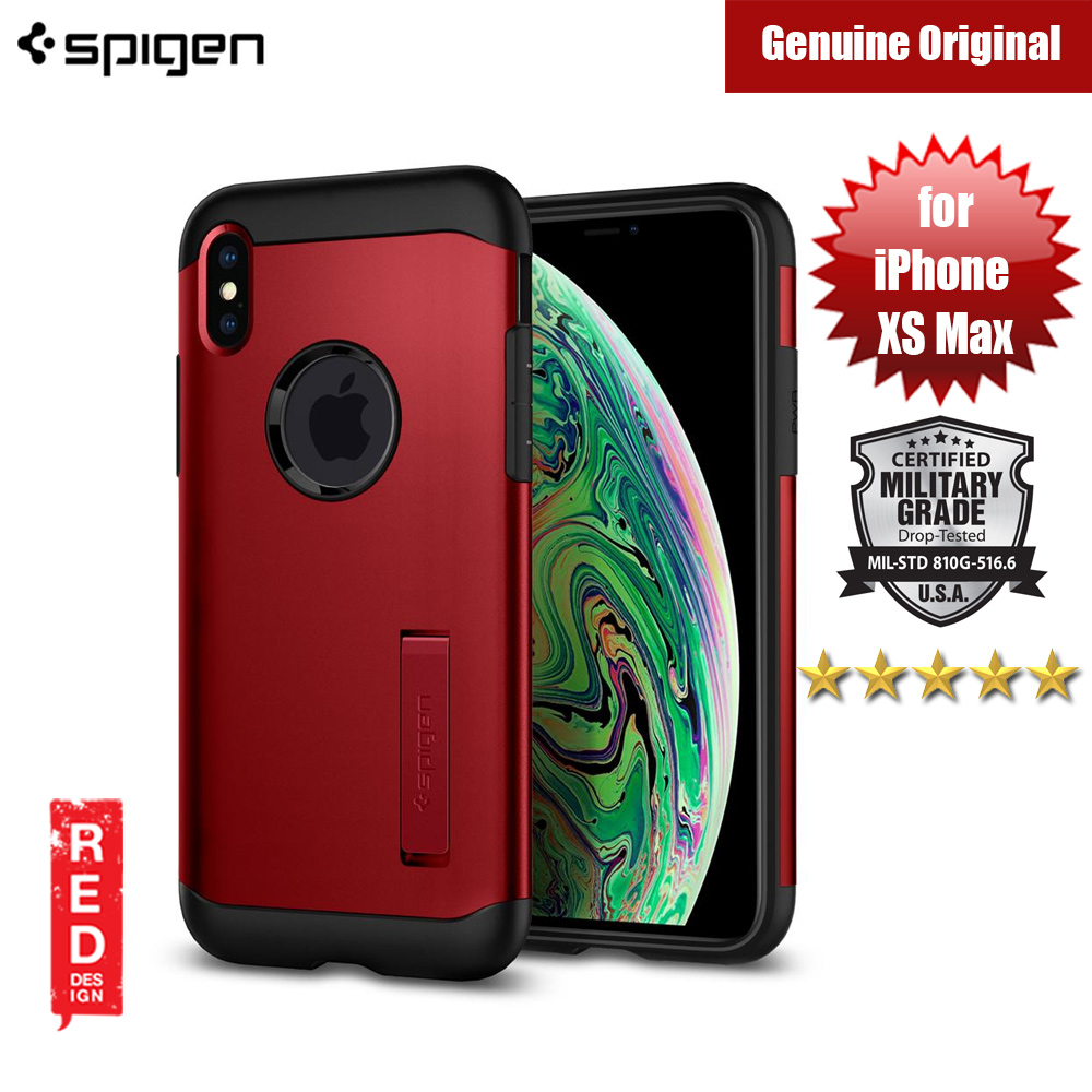 Picture of Spigen Slim Armor Protection Case for Apple iPhone XS Max (Merlot Red) Apple iPhone XS Max- Apple iPhone XS Max Cases, Apple iPhone XS Max Covers, iPad Cases and a wide selection of Apple iPhone XS Max Accessories in Malaysia, Sabah, Sarawak and Singapore
