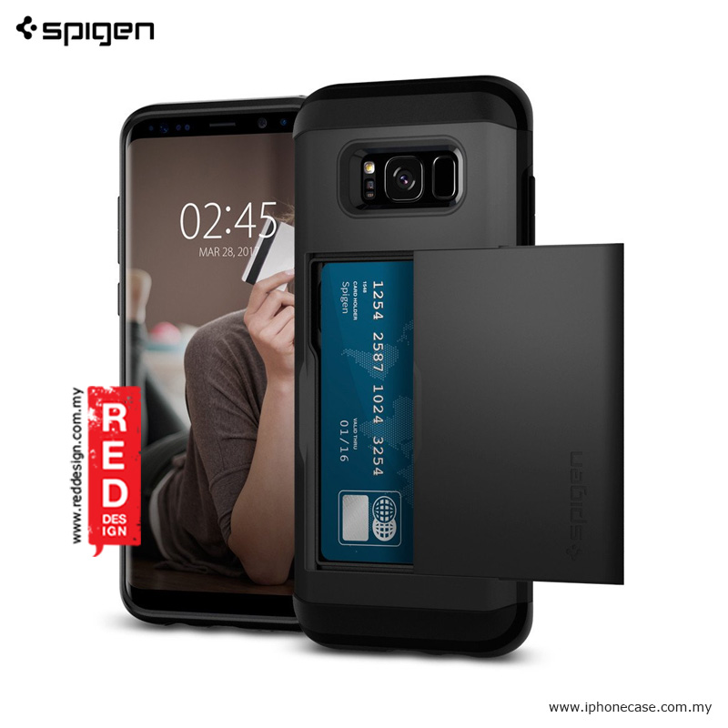 Picture of Spigen Slim Armor CS Card Holder Case for Samsung Galaxy S8 - Black Samsung Galaxy S8- Samsung Galaxy S8 Cases, Samsung Galaxy S8 Covers, iPad Cases and a wide selection of Samsung Galaxy S8 Accessories in Malaysia, Sabah, Sarawak and Singapore