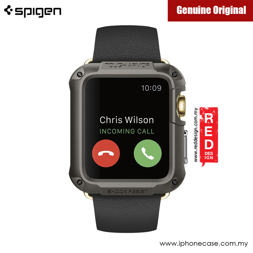 Picture of Apple Watch 42mm Case | Spigen Apple Watch Case Tough Armor 42mm Series 1 2 3 (Gunmetal)