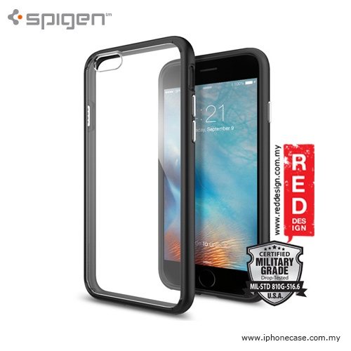 Picture of Spigen Ultra Hybrid Protection Case for iPhone 6 iPhone 6S 4.7 - Black Apple iPhone 6S 4.7- Apple iPhone 6S 4.7 Cases, Apple iPhone 6S 4.7 Covers, iPad Cases and a wide selection of Apple iPhone 6S 4.7 Accessories in Malaysia, Sabah, Sarawak and Singapore