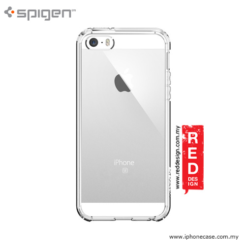 Picture of Apple iPhone 5 Case | Spigen Ultra Hybrid Case for iPhone SE iPhone 5 iPhone 5S - Crystal Clear