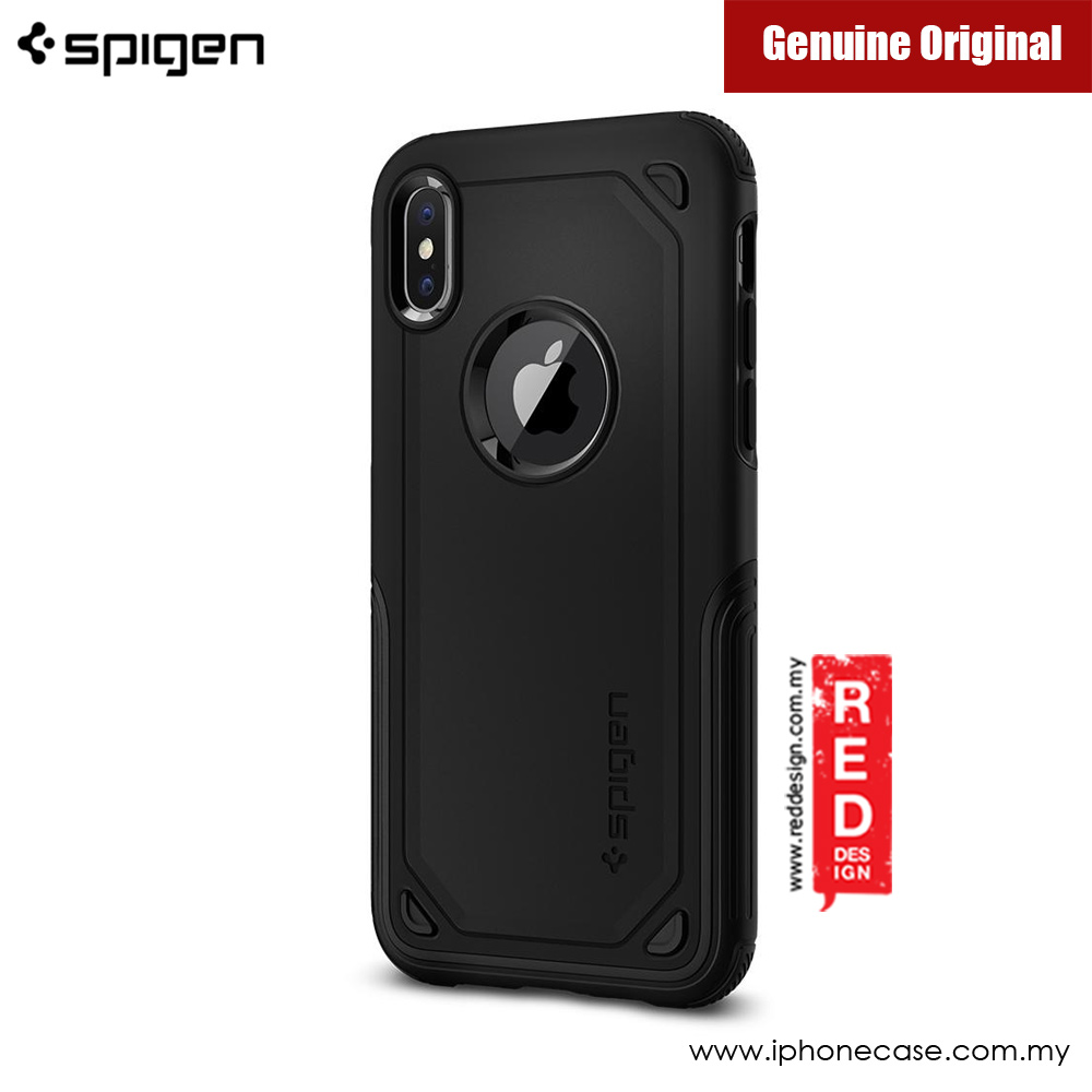 Picture of Apple iPhone X Case | Spigen Hybrid Armor Protection Case for Apple iPhone X (Black)