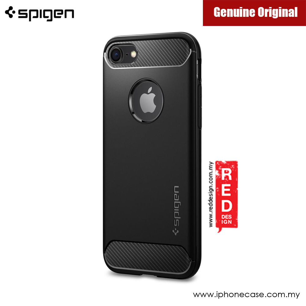 Picture of Apple iPhone 7 4.7 Case | Spigen Rugged Armor Protection Case for iPhone 7 iPhone 8 4.7 (Black)