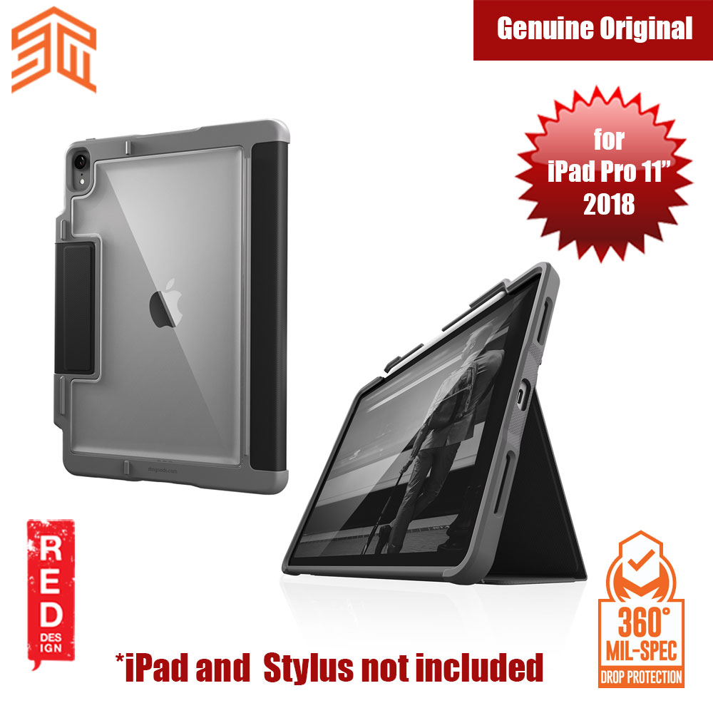 Picture of STM Dux Plus Military Grade Drop Protection Flip Cover Case for Apple iPad Pro 11 2018 (Black) Apple iPad Pro 11.0 2018- Apple iPad Pro 11.0 2018 Cases, Apple iPad Pro 11.0 2018 Covers, iPad Cases and a wide selection of Apple iPad Pro 11.0 2018 Accessories in Malaysia, Sabah, Sarawak and Singapore