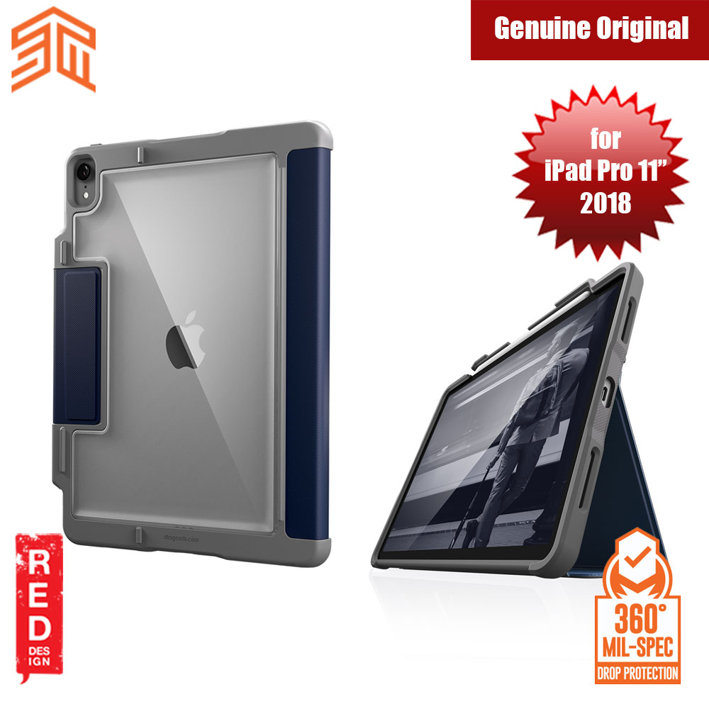 Picture of STM Dux Plus Military Grade Drop Protection Flip Cover Case for Apple iPad Pro 11 2018 (Midnight Blue) Apple iPad Pro 11.0 2018- Apple iPad Pro 11.0 2018 Cases, Apple iPad Pro 11.0 2018 Covers, iPad Cases and a wide selection of Apple iPad Pro 11.0 2018 Accessories in Malaysia, Sabah, Sarawak and Singapore