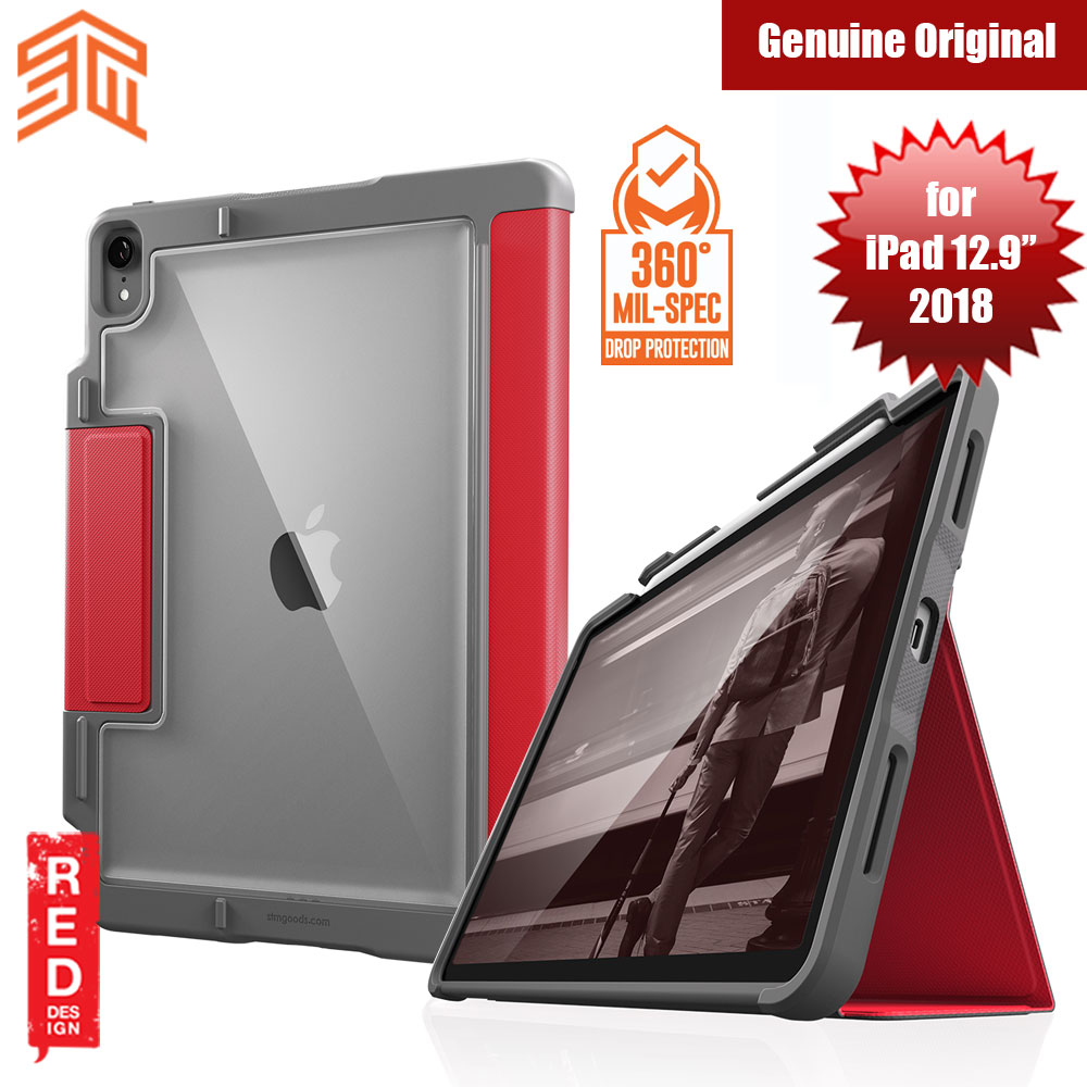 Picture of STM Dux Plus Military Grade Drop Protection Flip Cover Case for Apple iPad Pro 12.9 2018 (Red) Apple iPad Pro 12.9 2015- Apple iPad Pro 12.9 2015 Cases, Apple iPad Pro 12.9 2015 Covers, iPad Cases and a wide selection of Apple iPad Pro 12.9 2015 Accessories in Malaysia, Sabah, Sarawak and Singapore