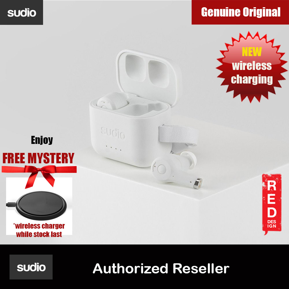 Picture of Sudio ETT Wireless Charge TWS True Wireless Bluetooth Earbuds (White) Red Design- Red Design Cases, Red Design Covers, iPad Cases and a wide selection of Red Design Accessories in Malaysia, Sabah, Sarawak and Singapore