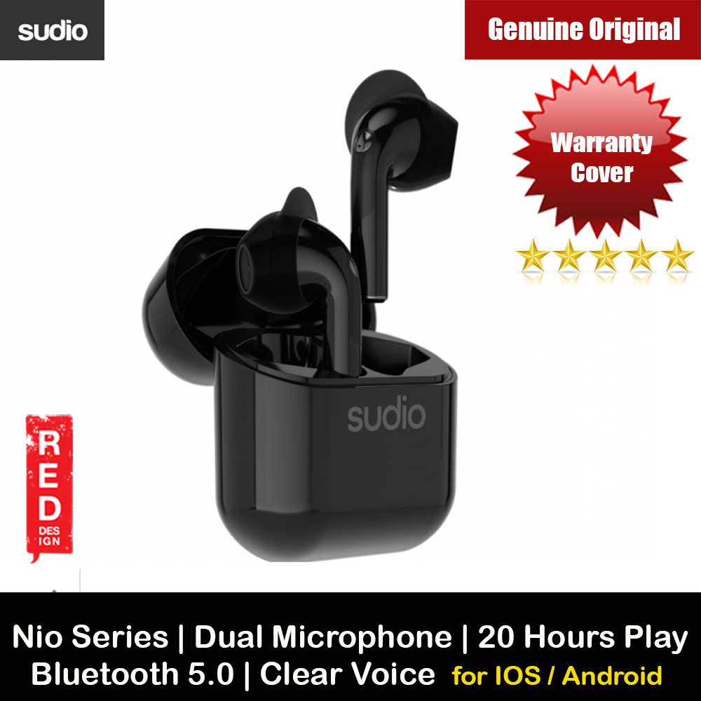 Picture of Sudio NIO TWS True Wireless Bluetooth Earbuds IPX4 Water Resistant Dual Microphone Clear Sound Suitable for Zoom Meeting (Black) Apple iPhone 12 6.1- Apple iPhone 12 6.1 Cases, Apple iPhone 12 6.1 Covers, iPad Cases and a wide selection of Apple iPhone 12 6.1 Accessories in Malaysia, Sabah, Sarawak and Singapore