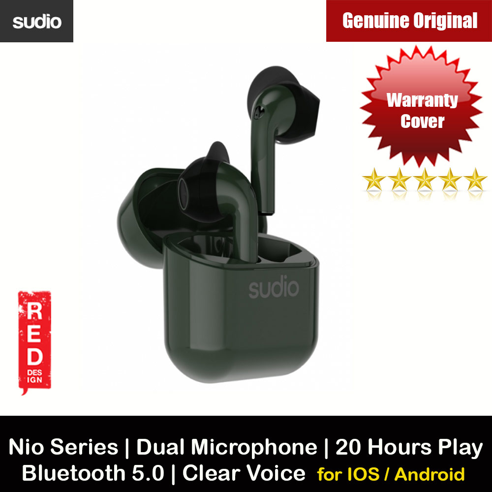Picture of Sudio NIO TWS True Wireless Bluetooth Earbuds IPX4 Water Resistant Dual Microphone Clear Sound Suitable for Zoom Meeting (Green) Apple iPhone 12 6.1- Apple iPhone 12 6.1 Cases, Apple iPhone 12 6.1 Covers, iPad Cases and a wide selection of Apple iPhone 12 6.1 Accessories in Malaysia, Sabah, Sarawak and Singapore