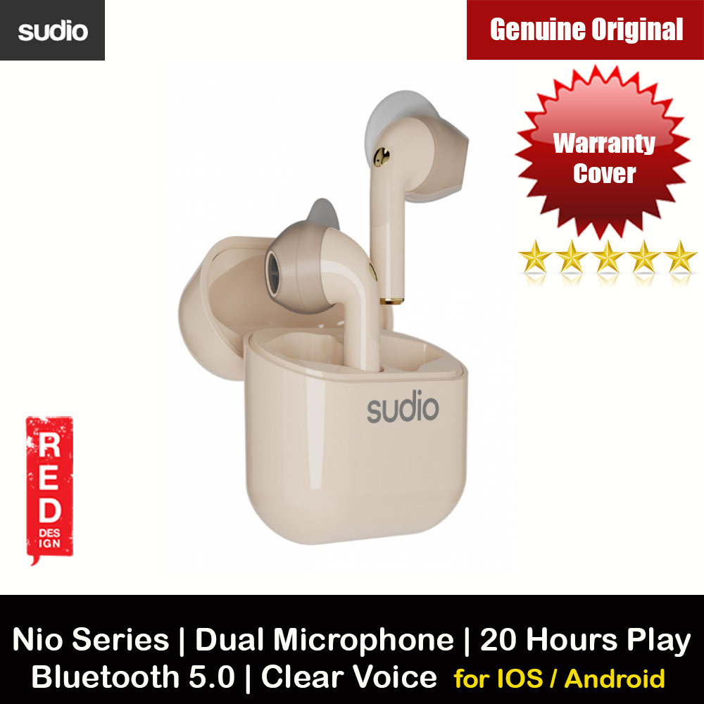 Picture of Sudio NIO TWS True Wireless Bluetooth Earbuds IPX4 Water Resistant Dual Microphone Clear Sound Suitable for Zoom Meeting (Sand) Apple iPhone 12 6.1- Apple iPhone 12 6.1 Cases, Apple iPhone 12 6.1 Covers, iPad Cases and a wide selection of Apple iPhone 12 6.1 Accessories in Malaysia, Sabah, Sarawak and Singapore