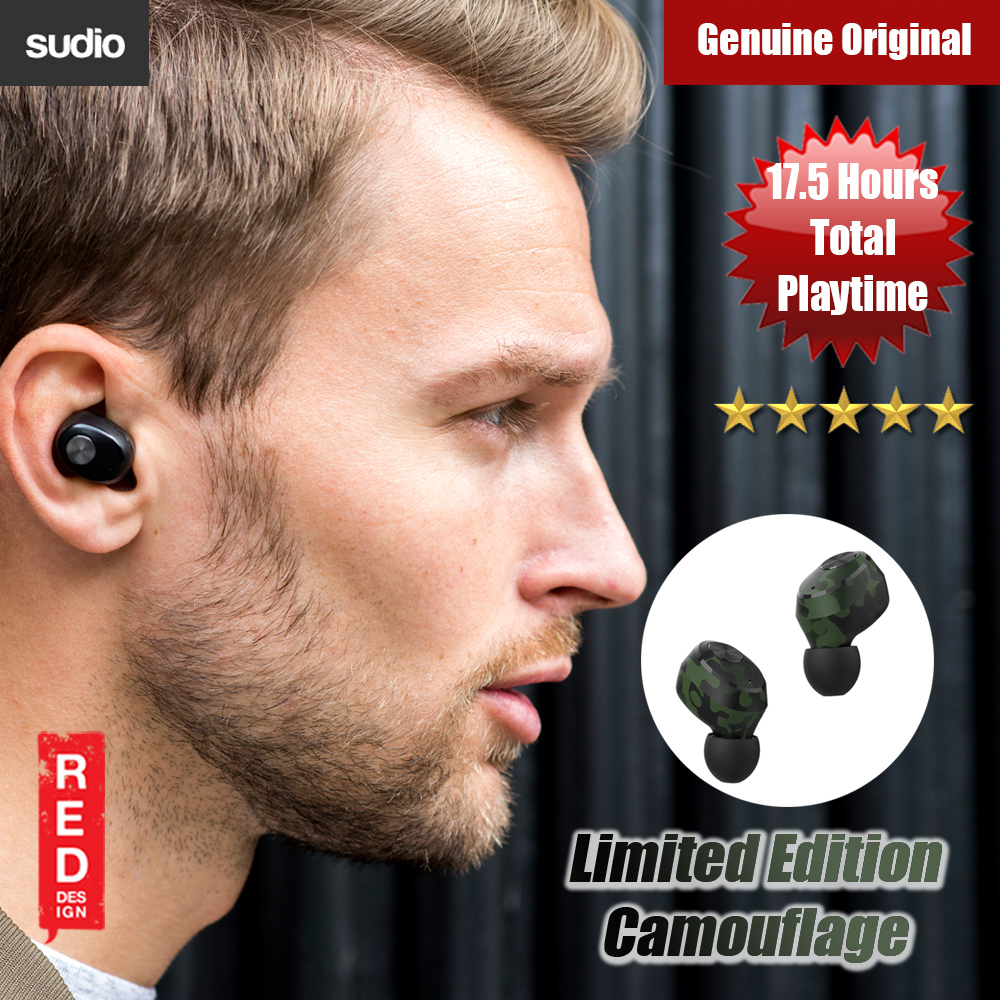 Picture of Sudio Niva  TWS True Wireless Bluetooth Earbuds ( Camouflage Limited Edition) Red Design- Red Design Cases, Red Design Covers, iPad Cases and a wide selection of Red Design Accessories in Malaysia, Sabah, Sarawak and Singapore