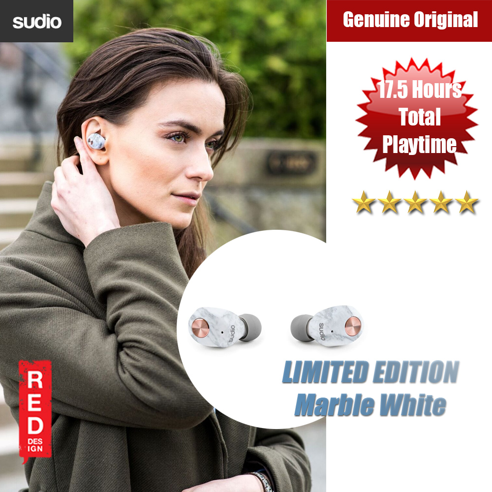 Picture of Sudio Niva  TWS True Wireless Bluetooth Earbuds (White Marble Limited Edition) Red Design- Red Design Cases, Red Design Covers, iPad Cases and a wide selection of Red Design Accessories in Malaysia, Sabah, Sarawak and Singapore