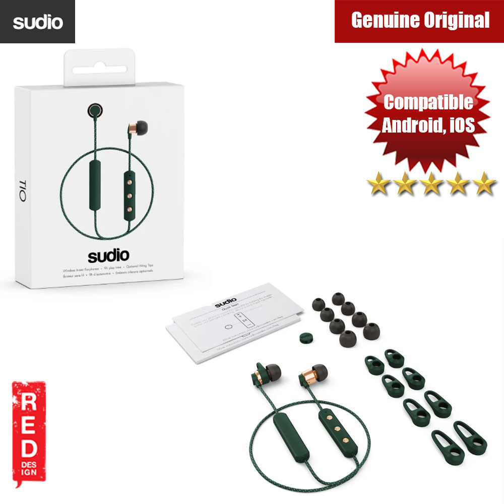 Picture of Sudio Tio Wireless Bluetooth Earphone (Green) Red Design- Red Design Cases, Red Design Covers, iPad Cases and a wide selection of Red Design Accessories in Malaysia, Sabah, Sarawak and Singapore