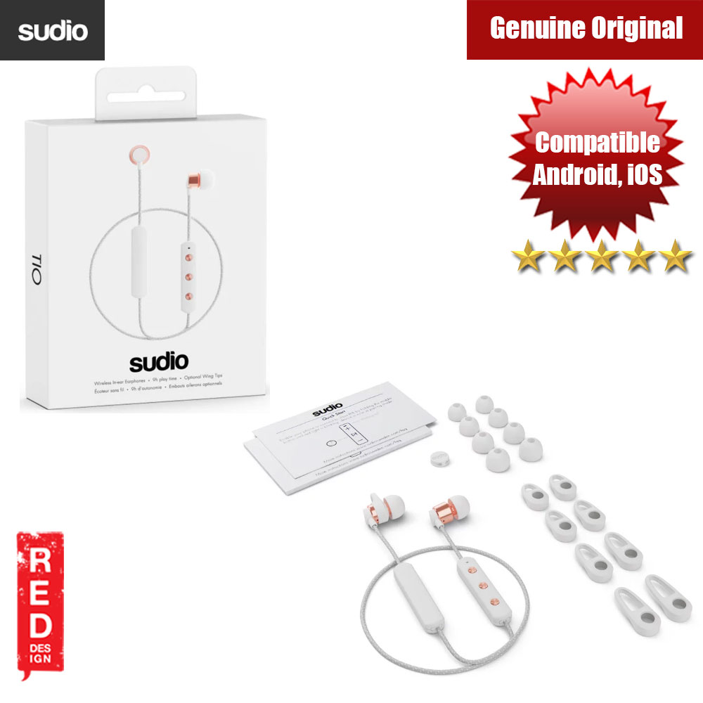 Picture of Sudio Tio Wireless Bluetooth Earphone (White) Red Design- Red Design Cases, Red Design Covers, iPad Cases and a wide selection of Red Design Accessories in Malaysia, Sabah, Sarawak and Singapore