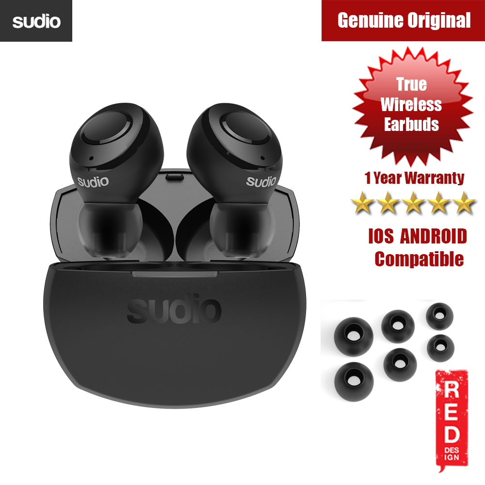 Picture of Sudio TOLV R TWS True Wireless Bluetooth Earbuds (Black) Red Design- Red Design Cases, Red Design Covers, iPad Cases and a wide selection of Red Design Accessories in Malaysia, Sabah, Sarawak and Singapore