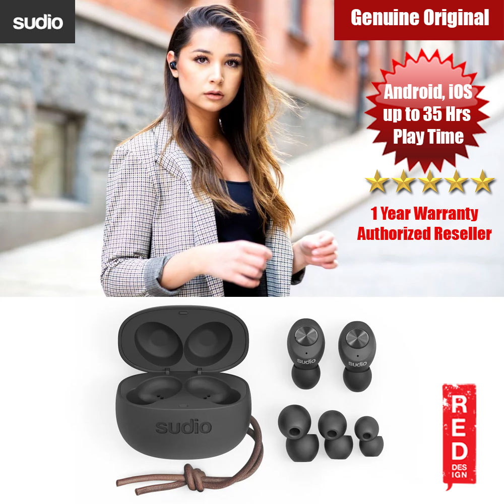 Picture of Sudio TOLV TWS True Wireless Bluetooth Earbuds (Black) Red Design- Red Design Cases, Red Design Covers, iPad Cases and a wide selection of Red Design Accessories in Malaysia, Sabah, Sarawak and Singapore