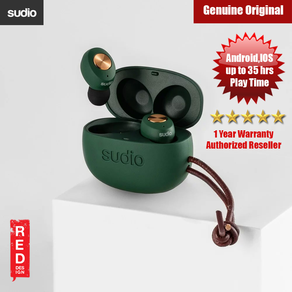 Picture of Sudio TOLV TWS True Wireless Bluetooth Earbuds (Green) Red Design- Red Design Cases, Red Design Covers, iPad Cases and a wide selection of Red Design Accessories in Malaysia, Sabah, Sarawak and Singapore