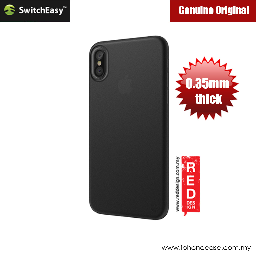 Picture of Switcheasy Ultra Thin Slim 0.35mm Case for Apple iPhone X (Stealth Black) Apple iPhone X- Apple iPhone X Cases, Apple iPhone X Covers, iPad Cases and a wide selection of Apple iPhone X Accessories in Malaysia, Sabah, Sarawak and Singapore