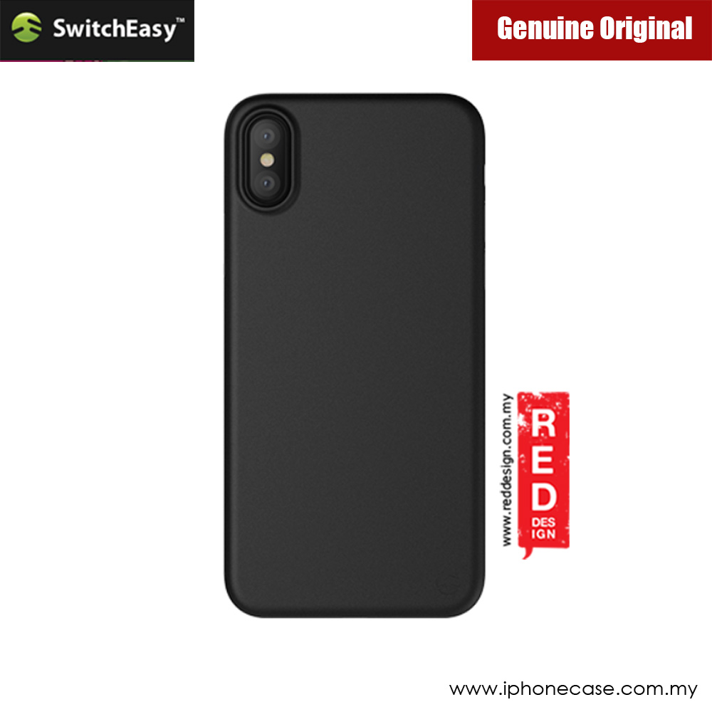 Picture of Apple iPhone X Case | Switcheasy Ultra Thin Slim 0.35mm Case for Apple iPhone X (Solid Black)