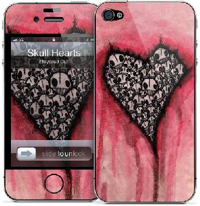 Picture of Gelaskins for Apple iPhone 4 4s - Skull Hearts Apple iPhone 4S- Apple iPhone 4S Cases, Apple iPhone 4S Covers, iPad Cases and a wide selection of Apple iPhone 4S Accessories in Malaysia, Sabah, Sarawak and Singapore