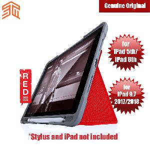 Picture of STM Dux Plus iPad 5th 6th Gen iPad 9.7 2017 2018 Case With Apple Pencil Storage (Red) Apple iPad 9.7 2018- Apple iPad 9.7 2018 Cases, Apple iPad 9.7 2018 Covers, iPad Cases and a wide selection of Apple iPad 9.7 2018 Accessories in Malaysia, Sabah, Sarawak and Singapore