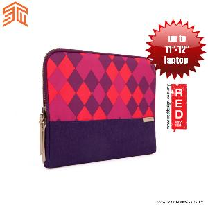 "Picture of STM Grace laptop Sleeve up to 11"" - Purple Diamonds Red Design- Red Design Cases, Red Design Covers, iPad Cases and a wide selection of Red Design Accessories in Malaysia, Sabah, Sarawak and Singapore"