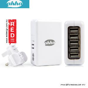Picture of Ahha Eagle 5 USB Charger at Total Output 4.2A - White Red Design- Red Design Cases, Red Design Covers, iPad Cases and a wide selection of Red Design Accessories in Malaysia, Sabah, Sarawak and Singapore