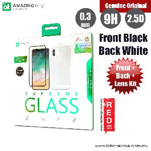 Picture of AMAZINGthing iPhone X Special Edition (Fully Covered SupremeGlass front Fully Covered hybrid SupremeGlass back and Lens Soft-Glass) (Black White) Apple iPhone X- Apple iPhone X Cases, Apple iPhone X Covers, iPad Cases and a wide selection of Apple iPhone X Accessories in Malaysia, Sabah, Sarawak and Singapore