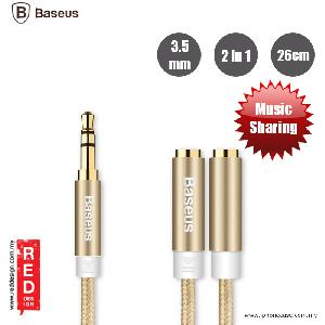 Picture of Baseus Fluency Series 2 in 1 Audio Sharing Cable 26cm - Gold Red Design- Red Design Cases, Red Design Covers, iPad Cases and a wide selection of Red Design Accessories in Malaysia, Sabah, Sarawak and Singapore