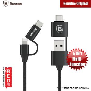 Picture of Baseus 5 in 1 Multifunctional 2A Charging Data Cable 1M USB /Type-C Dual Outputs to Micro USB/8 Pin/ Type-C Interfaces Red Design- Red Design Cases, Red Design Covers, iPad Cases and a wide selection of Red Design Accessories in Malaysia, Sabah, Sarawak and Singapore