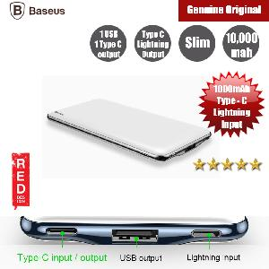 Picture of Baseus 10000mAh Power Bank For iPhone Tablets Dual Outputs USB C PD Fast Charging Powerbank (Black)