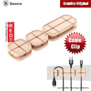 Picture of BASEUS Cross Peas Magnetic Cable Clip USB Cord Holder Wire Management (Peach Brown) Red Design- Red Design Cases, Red Design Covers, iPad Cases and a wide selection of Red Design Accessories in Malaysia, Sabah, Sarawak and Singapore