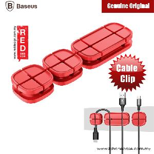 Picture of BASEUS Cross Peas Magnetic Cable Clip USB Cord Holder Wire Management (Red) Red Design- Red Design Cases, Red Design Covers, iPad Cases and a wide selection of Red Design Accessories in Malaysia, Sabah, Sarawak and Singapore