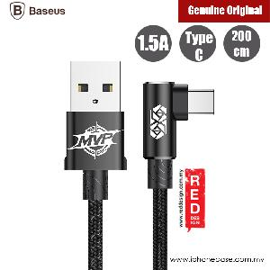 Picture of Baseus Elbow Type Type C Cable 200cm (Black) Red Design- Red Design Cases, Red Design Covers, iPad Cases and a wide selection of Red Design Accessories in Malaysia, Sabah, Sarawak and Singapore