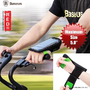 "Picture of Baseus Flexible Wristband for Smartphone up to 5"" iPhone 7 iPhone 6 iPhone SE - Black Green Red Design- Red Design Cases, Red Design Covers, iPad Cases and a wide selection of Red Design Accessories in Malaysia, Sabah, Sarawak and Singapore"
