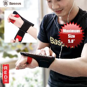 "Picture of Baseus Flexible Wristband for Smartphone up to 5"" iPhone 7 iPhone 6 iPhone SE - Black Red Red Design- Red Design Cases, Red Design Covers, iPad Cases and a wide selection of Red Design Accessories in Malaysia, Sabah, Sarawak and Singapore"