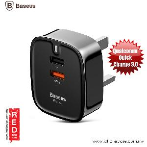 Picture of Baseus Funzi Dual USB QC 3.0 Smart Charger (UK) 3A max output Red Design- Red Design Cases, Red Design Covers, iPad Cases and a wide selection of Red Design Accessories in Malaysia, Sabah, Sarawak and Singapore