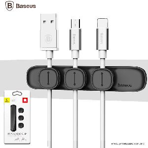 Picture of BASEUS Peas Magnetic Cable Clip USB Cord Holder Wire Management - Black Red Design- Red Design Cases, Red Design Covers, iPad Cases and a wide selection of Red Design Accessories in Malaysia, Sabah, Sarawak and Singapore