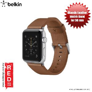 Picture of Apple Watch 38mm  | Belkin Classic Leather Band for Apple Watch (38mm) - Grey