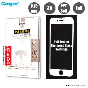Picture of Cooyee Series Ultra Thin Full Screen Tempered Glass for Apple iPhone 6S PET Soft 3D Curve 0.15 mm - White Apple iPhone 6S 4.7- Apple iPhone 6S 4.7 Cases, Apple iPhone 6S 4.7 Covers, iPad Cases and a wide selection of Apple iPhone 6S 4.7 Accessories in Malaysia, Sabah, Sarawak and Singapore