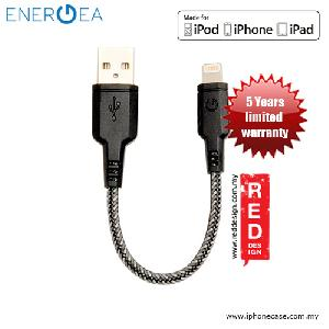 Picture of Energea NYLOTOUGH MFI Rapid Charge and Sync Lightning Braid Cable 16CM - Black Red Design- Red Design Cases, Red Design Covers, iPad Cases and a wide selection of Red Design Accessories in Malaysia, Sabah, Sarawak and Singapore