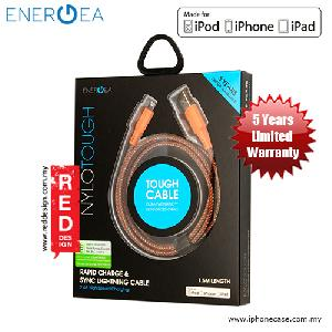 Picture of Energea NYLOTOUGH MFI Rapid Charge and Sync Lightning Braid Cable 1.5M - Orange Red Design- Red Design Cases, Red Design Covers, iPad Cases and a wide selection of Red Design Accessories in Malaysia, Sabah, Sarawak and Singapore