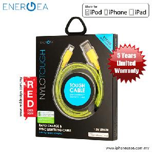 Picture of Energea NYLOTOUGH MFI Rapid Charge and Sync Lightning Braid Cable 1.5M - Yellow Red Design- Red Design Cases, Red Design Covers, iPad Cases and a wide selection of Red Design Accessories in Malaysia, Sabah, Sarawak and Singapore