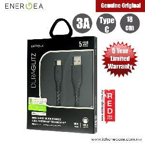 Picture of Energea DuraGlitz 3A Fast Speed Charging Type-C Cable 18cm (Black) Red Design- Red Design Cases, Red Design Covers, iPad Cases and a wide selection of Red Design Accessories in Malaysia, Sabah, Sarawak and Singapore