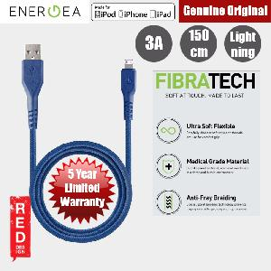 Picture of Energea FIBRA TOUGH Lightning Cable for Apple iPhone X iPhone 8 Plus iPad 150cm (Blue) Red Design- Red Design Cases, Red Design Covers, iPad Cases and a wide selection of Red Design Accessories in Malaysia, Sabah, Sarawak and Singapore