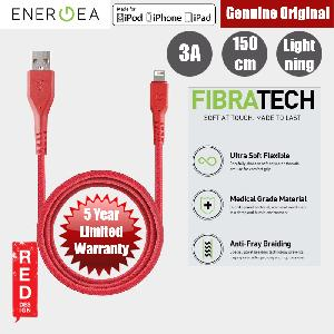 Picture of Energea FIBRA TOUGH Lightning Cable for Apple iPhone X iPhone 8 Plus iPad 150cm (Red) Red Design- Red Design Cases, Red Design Covers, iPad Cases and a wide selection of Red Design Accessories in Malaysia, Sabah, Sarawak and Singapore