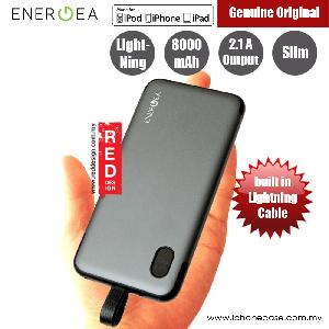 Picture of Energea Integra 8000i 8000mAh Slim Power Bank with built in Lightning Cable (Gunmetal) Red Design- Red Design Cases, Red Design Covers, iPad Cases and a wide selection of Red Design Accessories in Malaysia, Sabah, Sarawak and Singapore