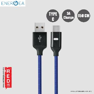 Picture of Energea LUMINA Aluminium LED Cable Type-C to USB A 150cm - Black Red Design- Red Design Cases, Red Design Covers, iPad Cases and a wide selection of Red Design Accessories in Malaysia, Sabah, Sarawak and Singapore